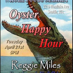 Reggie Miles at Whole Foods Market's Oyster Happy Hour